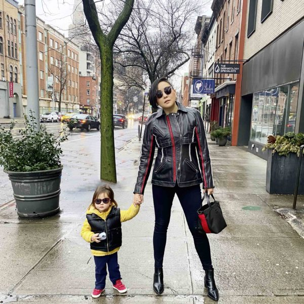 Image: Aya and her 2-year old daughter in NY